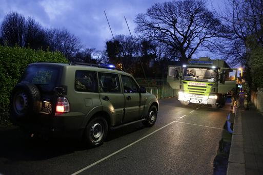 The Army Bomb Disposal Unit at Sidmonton Park in Bray on New Year's Eve