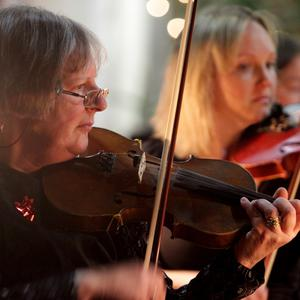First violin Hazel Fortune with Greystones Orchestra
