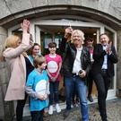 Richard Branson cutting the ribbon on the Cool Planet Experience at Powerscourt last week
