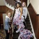 Shauna Carter, Hannah Bedford and Clodagh Farmer with their design 'We're All Mad Here'.