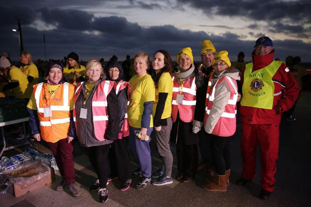 Some of the Darkness Into Light committee members. From left: Sarah Wray, Tracy O'Brien, Claire Timmons, Triona Irving, Ann Elliott, Danny Bohan, Tresi O'Brien and Ray McDonagh