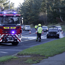 Crash and car fire on the Southern Cross Road Sunday Morning