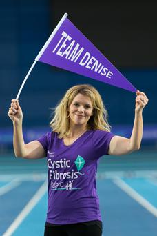 Denise McCormack at the launch of Cystic Fibrosis Ireland's One in 1,000 at the National Indoor Arena in Blanchardstown