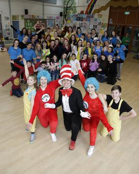Sophie Osborne, Sarah Egan, Tim Forde, Ciara Fleming, Matthew Nolan and rest of the cast of Bray Musical Society's production of 'Suessical the Musical', which will be staged at the Mermaid Arts Centre from next Wednesday
