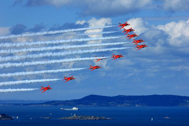 Red Arrows over Dublin Bay.