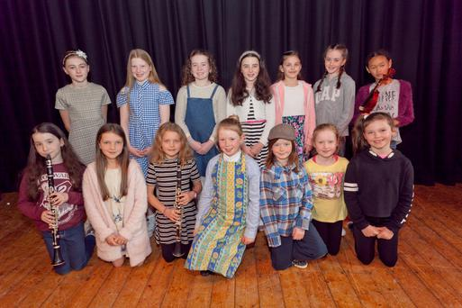 The under-12 girls who competed in the talent finals in Glenealy Hall on Sunday.