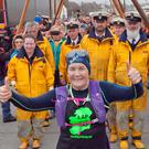 Arklow Rowing Club members made a guard of honour for Mary as she made her way to the RNLI station