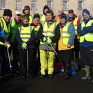 Glencree Walking Group after their litter pick