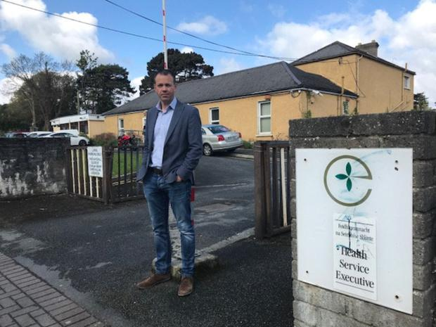 Deputy John Brady outside of the Bray Primary Care Centre.