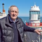 Former Lighthouse Keeper Brendan Conway at Wicklow Lighthouse.