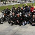 Celtic Wolves Ride out for Community Reaches Out: the riders assemble on Bray Seafront