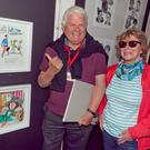 Don Conroy and his wife Gay with Don's exhibit.