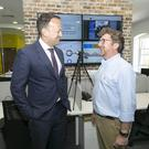 Taoiseach Leo Varadkar with Andy Wilkinson, COO of Crowley Carbon
