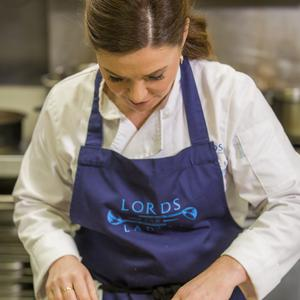 Catherine Fulvio in the kitchen at Killruddery