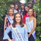 Last year's Wicklow Rose Abby McKenna with some of this year's hopefuls