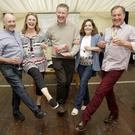 Denis Sherlock, Carmel Vickers, Gavin Barrett, Jackie Gallagher and Robbie Boland at the launch of the Enniskerry Broadway Show.
