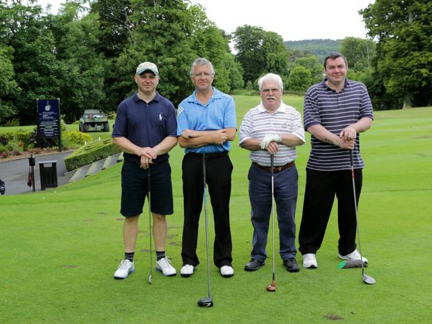 Patrick Fox, Denis Carroll, Michael Fox Snr and Michael Fox Jnr at a previous 'Two Marys'.