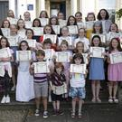Students of Maeve Miller who earned their Speech and Drama Certificates for their grade examinations at the Bray School of Speech and Drama
