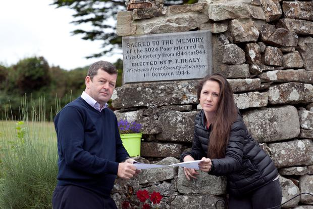 Cllr Pat Kennedy and Christina Doyle at the Rathdrum Famine Graveyard