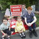 Daniel, JD, Steven and Jessica Byrne at the launch of the Tinahely Show, which takes place on the August bank holiday Monday. Photos: Joe Byrne