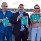 Eoghan Whelan, Cllr John Snell, Joanne Costello and John Goodman at the launch of the Launch of the Wicklow Regatta Festival programme at Wicklow Sailing Club