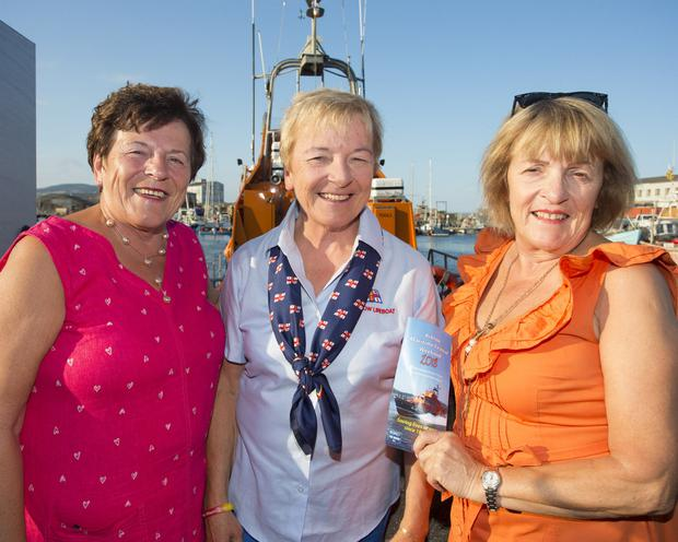 Pauline, Bebe and Bernie Fitzgerald at the launch of Arklow Maritime Festival