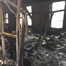 The damaged Outpost Studios following the fire