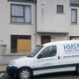 A security van outside the house at Farrankelly Close earlier this week