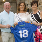 Wicklow Rose Lorna Mallick with her proud parents, Joe and Fiona