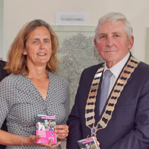 Sean Quirke from Wicklow County Council; Deputy Pat Casey; Aoife Patterson; Graeme Warren, head of the School of Archaeology at UCD; Deirdre Burns, Wicklow Heritage Officer; Cllr Pat Vance, cathaoirleach of Wicklow County Council; Joan Kavanagh; Pat Reid; and Michael Rodgers and the brochure launch last Thursday