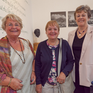 Jill Clancy-Harrold, Máire Togher and Claire Timmons at Frank Kelly's concert in the Ashford Community and Heritage Centre
