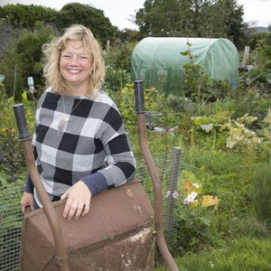 Grace Garde in the centre of the allotments.