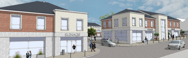 The proposed Main Street entrance to the development