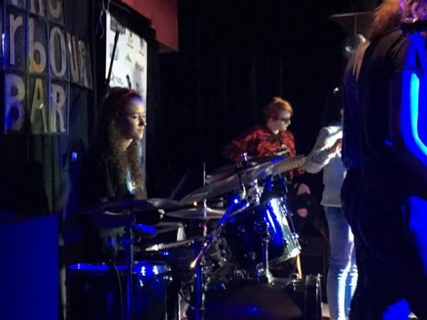 Music generation's jazz ensemble performing in the Harbour Bar this year