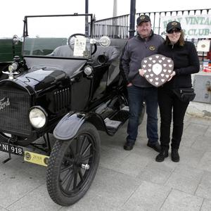 Howard and Daphne Connolly with their John Nolan Memorial Shield winning 1918 Ford Model T