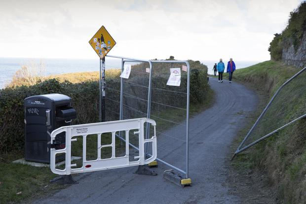Public urged to heed signs at Cliff Walk