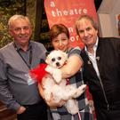 Chris de Burgh with Ross McParland, Emma Tagliarino and Bonnie at the fundraising concert in the Whale Theatre. Photos by Paul Messitt