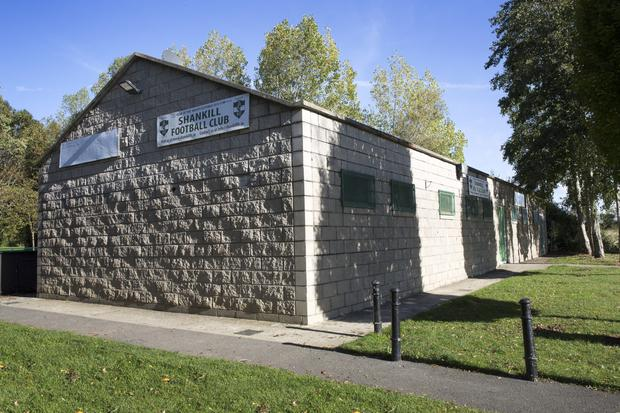 Shankill FC's clubhouse.