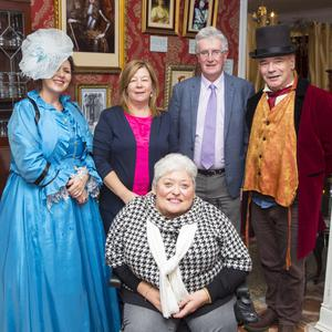 Sally McEllistrim, Linda McDonald, Michael Geaney, Ian Cathcart and Cllr Miriam Murphy at the Victorian Tea Times open day in Arklow