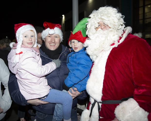 Isabelle, Paul and Stevie Moran with Santa.