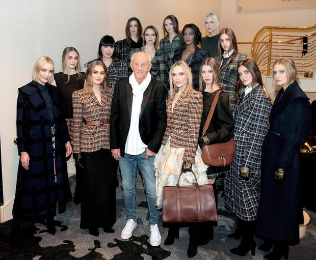 Paul Costelloe with models at the Irish Fashion Collective Show in aid of St Joseph's, Shankill, at the Conrad on Earlsfort Terrace, Dublin.