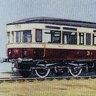 The electric tram on an old cigarette card