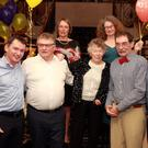 Betty O'Conor (centre) celebrating her 90th birthday in the Ashdown Park hotel with her family: (from left) John O'Conor, Nick O'Conor, Jean Sheridan, Maggie O' Conor, Richard O'Conor and Joey O'Conor