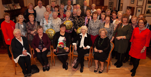Members of Apollo Bridge Club celebrating the club's 50th birthday at Arklow Golf Club