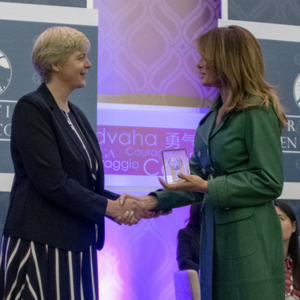 Sr Orla receiving her International Women of Courage award from First Lady Melania Trump