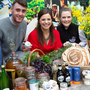 Catherine Fulvio with Liam Hempenstall of Wicklow Farmhouse Cheese in Arklow and Hanna Sheerin of Ballyhubbock Farm in the Glen of Imaal at the launch of 'The Feast from the East', the Co Wicklow Food and Beverage Strategy, at the Killruddery Estate.