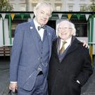 Peter O'Loughlin with President Michael D Higgins