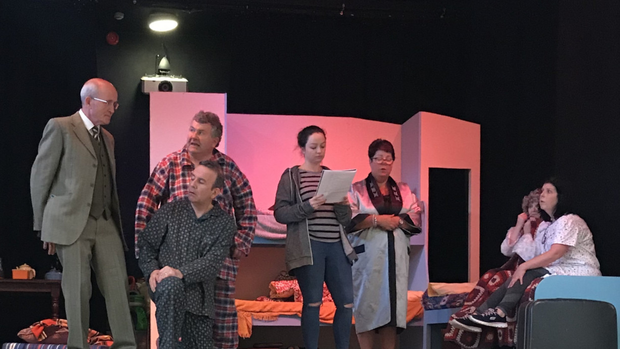 Crois Dearg Drama Group in rehearsals