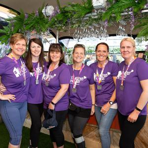 Tina Spivack, Lisa Rooney, Mairead Ennis, Linda Hennessy, Mary Hayde and Catherine Levins who were running for Purple House