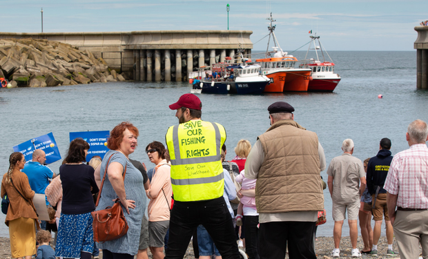 The recent blockade and protest at Greystones Harbour held as part of the fishermen's campaign to be accomodated in the harbour